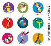 vector icons for human... | Shutterstock .eps vector #88773811