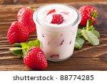 strawberry yoghurt | Shutterstock . vector #88774285