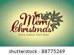 merry christmas | Shutterstock .eps vector #88775269