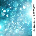 beautiful blue xmas winter...   Shutterstock .eps vector #88775857