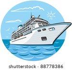 luxury cruise ship | Shutterstock .eps vector #88778386