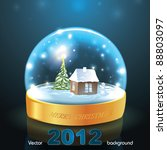 crystal snow globe with small... | Shutterstock .eps vector #88803097