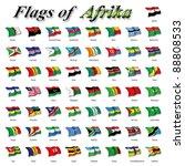 flags of africa | Shutterstock . vector #88808533