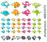 swoosh social media logo icons | Shutterstock .eps vector #88815472