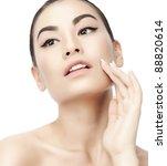 portrait of attractive  asian...   Shutterstock . vector #88820614