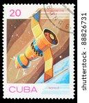cuba   circa 1983  an airmail... | Shutterstock . vector #88826731
