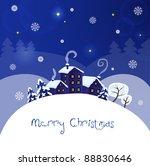 christmas landscape | Shutterstock .eps vector #88830646