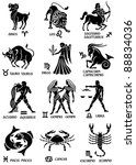 zodiac signs with texts in...   Shutterstock .eps vector #88834036