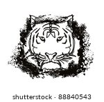 abstracted doodles tiger vector | Shutterstock .eps vector #88840543