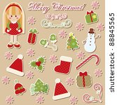 set of christmas symbols | Shutterstock .eps vector #88845565