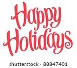 playful vector lettering series ... | Shutterstock .eps vector #88847401