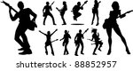 abstract music background for... | Shutterstock .eps vector #88852957