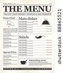 restaurant menu design. concept ... | Shutterstock .eps vector #88865521
