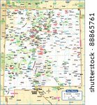 new mexico state map   Shutterstock .eps vector #88865761