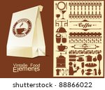 food and drink vector elements