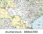 texas state map | Shutterstock .eps vector #88866580