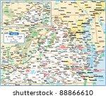 virginia state map   Shutterstock .eps vector #88866610