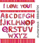 Love The Alphabet With A Heart...