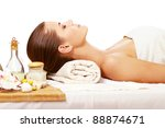 young woman getting spa... | Shutterstock . vector #88874671