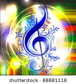 colorful musical background | Shutterstock .eps vector #88881118