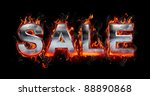 hot metal letters on fire | Shutterstock . vector #88890868