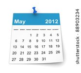 calendar 2012   may | Shutterstock . vector #88903234