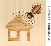 Termite Damage House  Vector