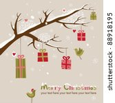 christmas card with beautiful... | Shutterstock .eps vector #88918195