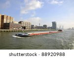 Barge - stock photo