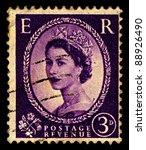 uk circa 1952 a stamp printed... | Shutterstock . vector #88926490