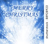 blue starry christmas greetings | Shutterstock . vector #88928923