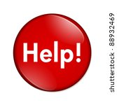a red button with word help... | Shutterstock . vector #88932469