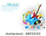 illustration of abstract... | Shutterstock .eps vector #88933192