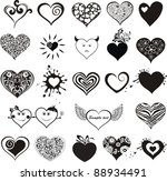 hearts set for wedding and... | Shutterstock .eps vector #88934491