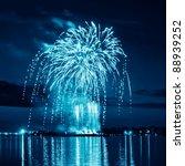 blue bright firework in a night ...   Shutterstock . vector #88939252