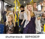 large group of people going by... | Shutterstock . vector #88940839