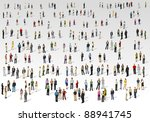 big group of people on with... | Shutterstock .eps vector #88941745