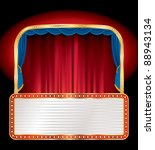 vector empty stage with blank...   Shutterstock .eps vector #88943134