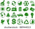 set of eco icons | Shutterstock .eps vector #88944013