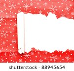 torn christmas decorative paper ... | Shutterstock . vector #88945654