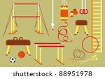 set of sport equipment | Shutterstock .eps vector #88951978