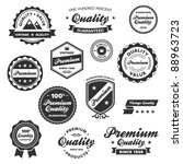 set of vintage retro premium... | Shutterstock . vector #88963723