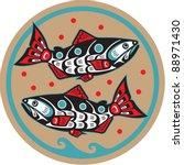 spawning salmon   native... | Shutterstock .eps vector #88971430