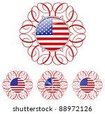 Ornamental Us Button In 4...