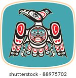 eagle   native american style... | Shutterstock .eps vector #88975702