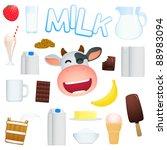 dairy produce | Shutterstock .eps vector #88983094
