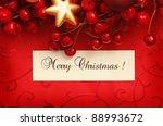 christmas frame for greeting... | Shutterstock . vector #88993672