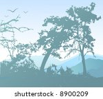 vector nature illustration | Shutterstock .eps vector #8900209