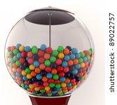 gum balls isolated on white background - stock photo