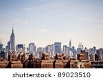 new york city skyline taken... | Shutterstock . vector #89023510